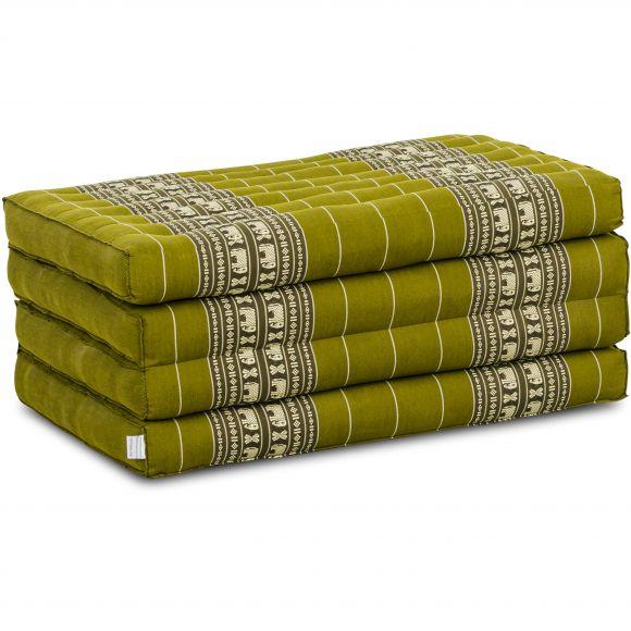 Folding Mattress, 200 cm x 80 cm, green elephants