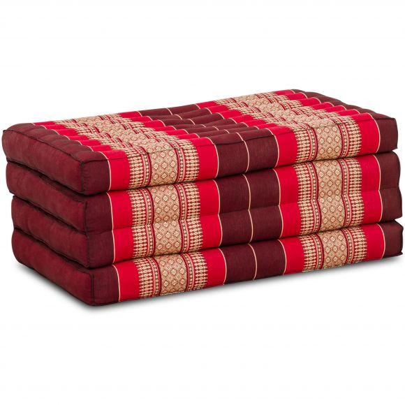Folding Mattress, 200 cm x 80 cm, ruby-red