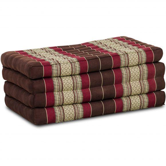 Folding Mattress, 200 cm x 80 cm, bordeaux