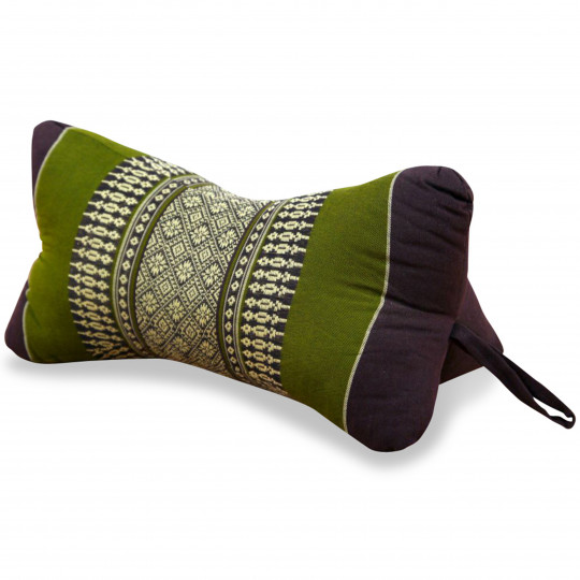 Bone Neck Pillow, brown / green