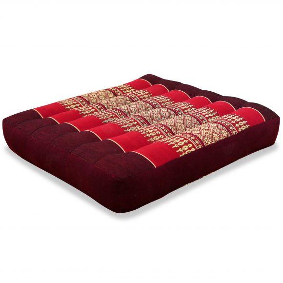 Kapok Seat Cushion, Size M, ruby-red