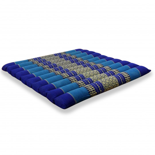 Kapok Quilted Seat Cushion, Size L,  blue