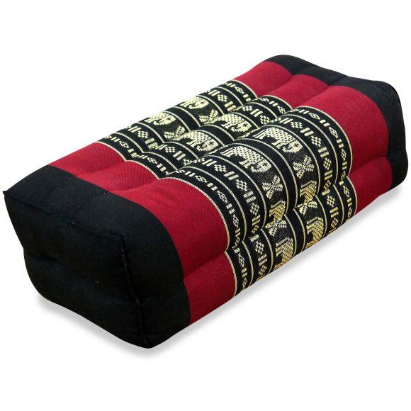 Block pillow, black / elephants