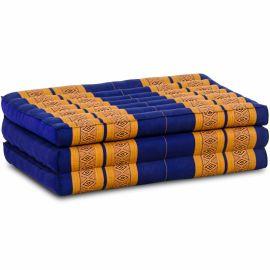 Folding Mattress, 140 cm x 70 cm, blue / yellow