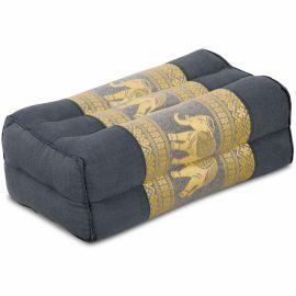 Block pillow, grey / elephants