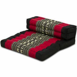 Block pillow (foldable) black / elephants