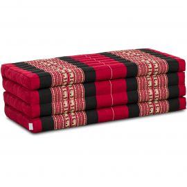 Folding Mattress, 200 cm x 110 cm, red elephants