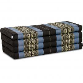 Folding Mattress, 200 cm x 110 cm, blue elephants