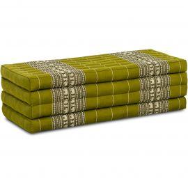 Folding Mattress, 200 cm x 110 cm, green elephants