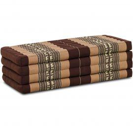 Folding Mattress, 200 cm x 110 cm, brown elephants