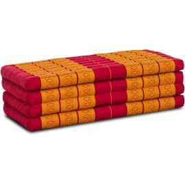 Folding Mattress, 200 cm x 110 cm, red / yellow
