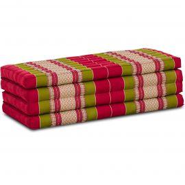 Folding Mattress, 200 cm x 110 cm, red / green