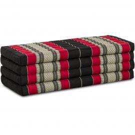 Folding Mattress, 200 cm x 110 cm, black / red