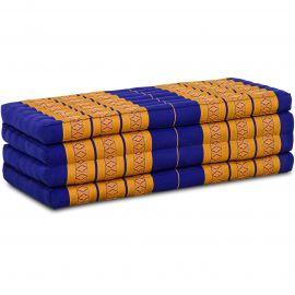 Folding Mattress, 200 cm x 110 cm, blue / yellow