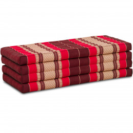 Folding Mattress, 200 cm x 110 cm, ruby-red