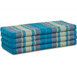 Folding Mattress, 200 cm x 110 cm, light blue