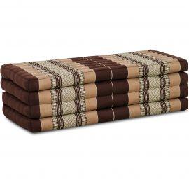 Folding Mattress, 200 cm x 110 cm, brown