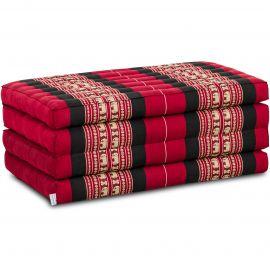 Folding Mattress, 200 cm x 80 cm, red elephants