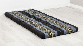 Folding Mattress, 200 cm x 80 cm, blue elephants