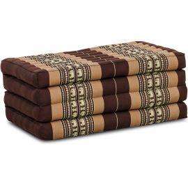 Folding Mattress, 200 cm x 80 cm, brown elephants