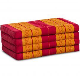 Folding Mattress , 200 cm x 80 cm, red / yellow