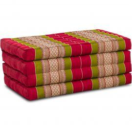 Folding Mattress, 200 cm x 80 cm, red / green