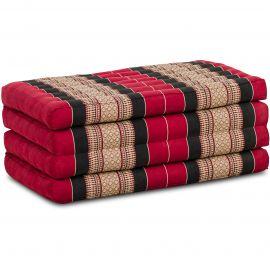 Folding Mattress, 200 cm x 80 cm, red / black