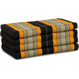 Folding Mattress, 200 cm x 80 cm, black / orange