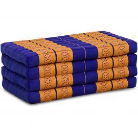 Folding Mattress, 200 cm x 80 cm, blue / yellow