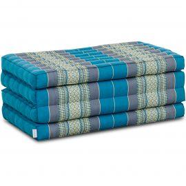 Folding Mattress, 200 cm x 80 cm, light blue