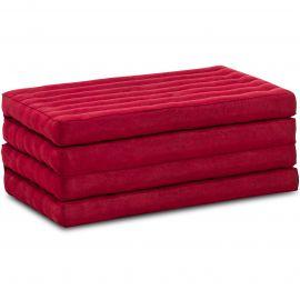 Folding Mattress, 200 cm x 80 cm, red monochrome