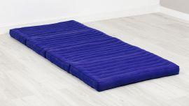 Folding Mattress, 200 cm x 80 cm, blue monochrome
