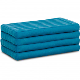 Folding Mattress, 200 cm x 80 cm, light blue monochrome