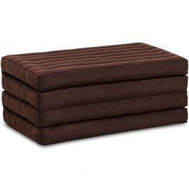 Folding Mattress, 200 cm x 80 cm, brown monochrome