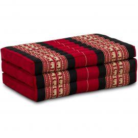Folding Mattress, 140 cm x 70 cm, red / elephants