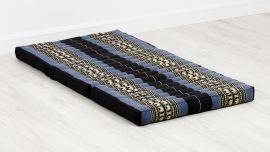Folding Mattress, 140 cm x 70 cm, blue / elephants