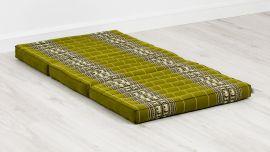Folding Mattress, 140 cm x 70 cm, green / elephants