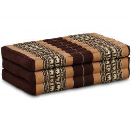 Folding Mattress, 140 cm x 70 cm, brown / elephants