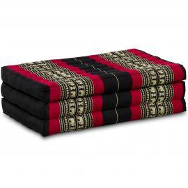 Folding Mattress, 140 cm x 70 cm, black / elephants