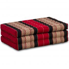 Folding Mattress, 140 cm x 70 cm, red / black