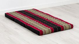 Folding Mattress, 140 cm x 70 cm, black / red
