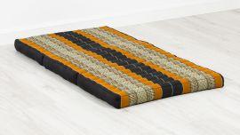 Folding Mattress, 140 cm x 70 cm, black / orange