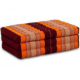 Folding Mattress, 140 cm x 70 cm, orange