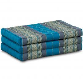 Folding Mattress, 140 cm x 70 cm, light blue