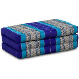 Folding Mattress, 140 cm x 70 cm, blue
