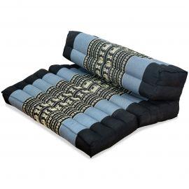Block pillow (foldable) blue / elephants