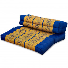 Block pillow (foldable) blue / yellow
