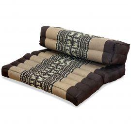 Block pillow (foldable) brown / elephants