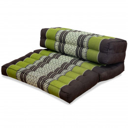 Block pillow (foldable) brown / green
