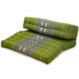 Block pillow (foldable) green / elephants